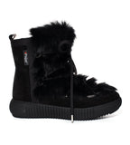 Anet Fur Boot Black