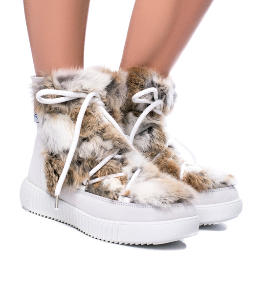 Pajar Anet Fur Boot White - TheSeptember.com