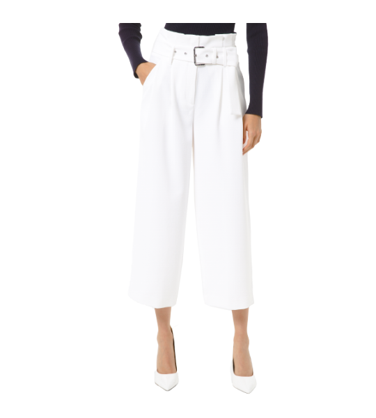Paper Bag Pleated Culotte