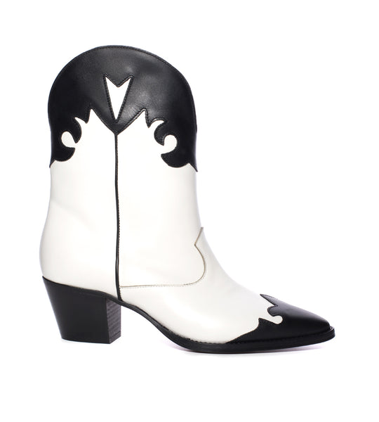 Black and White Cowboy Boot