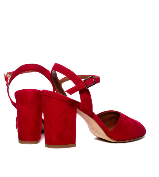 Red Suede Sandal