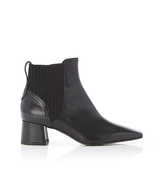 Patti Calf Leather Block Heel Chelsea Bootie
