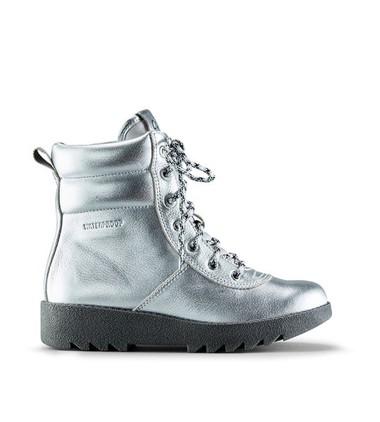 Pax Leather Winter Boot Silver
