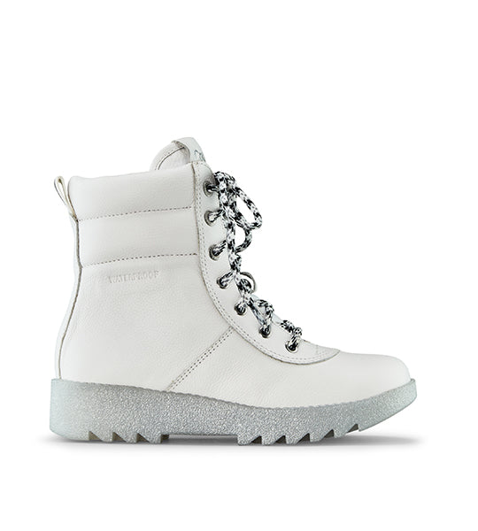 Pax Leather Winter Boot White