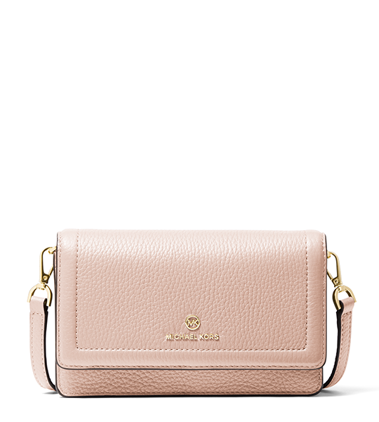 Jet Set Smartphone Small Crossbody - Pink and Luggage