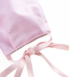 Cotton Mask with Ribbon - Pink