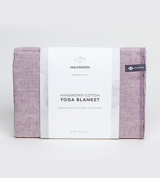 Classic Cotton Yoga Blanket - Plum Weave