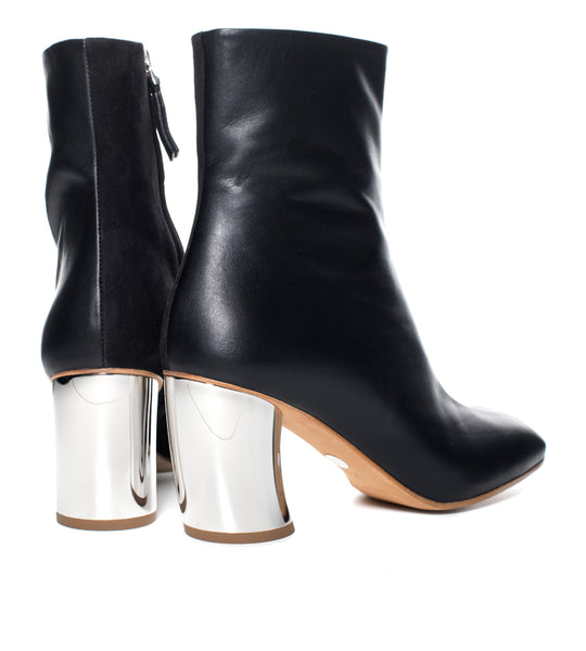 Proenza Schouler Curved Heel Bi-Material Ankle Boot - TheSeptember.com