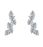 Pure Diamond Cluster Earrings