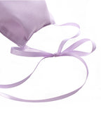 Cotton Mask with Ribbon - Lavender