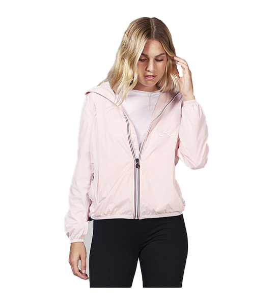 Full-Zip Packable Rain Jacket - Baby Pink