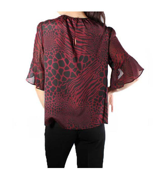Graphic Ani Blouse Sleeve Top