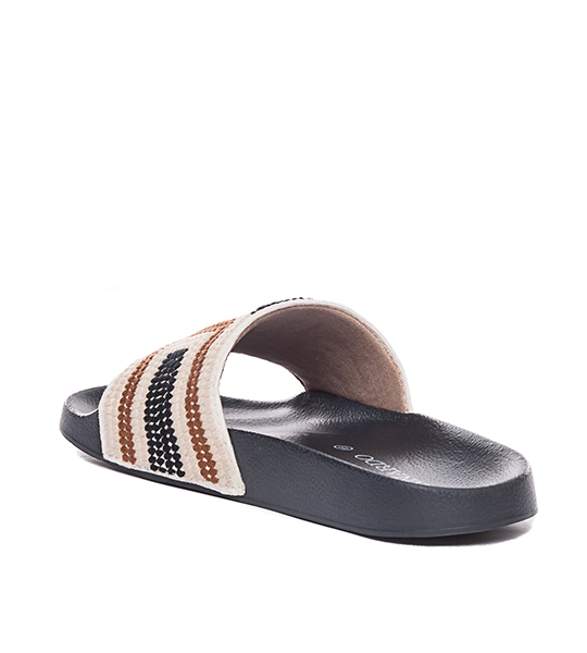 Reese Embroidered Slide - Black Multi