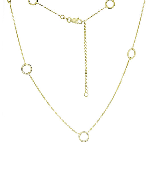 Refined Gold Round Chain Necklace