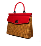 Wicker Satchel Red