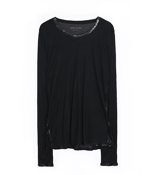 Willy Black/Silver Foil Long Sleeve Tee