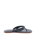 Miami Navy Leather Flip Flop