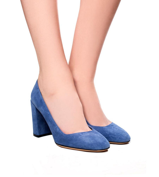 Salvatore Ferragamo Blue Pump - TheSeptember.com