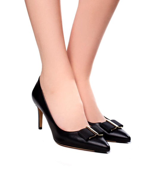 Salvatore Ferragamo Black Pump - TheSeptember.com