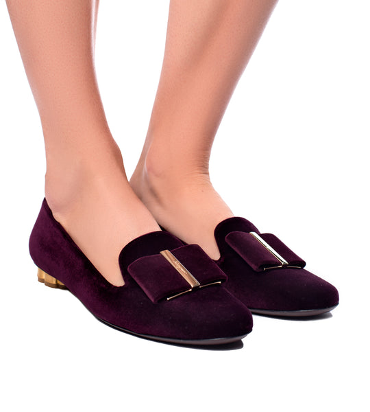 Salvatore Ferragamo Flower Heel Slipper Shoe - TheSeptember.com
