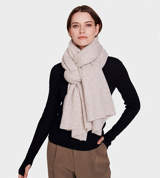 Cashmere Travel Wrap Sand