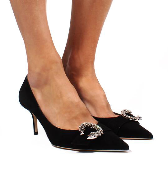 Saresa Black Suede Pump