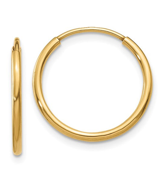 Endless 14K Gold Dainty Hoop Earrings