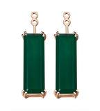 Marilyn Green Agate Earrings Extenders