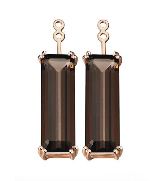 Marilyn Smoky Quartz Earrings Extenders