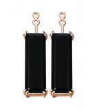 Marilyn Black Onyx Earrings Extenders