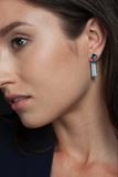 Sophia Swiss Blue Topaz Earrings + Marilyn Earring Extenders
