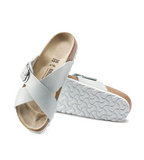 Siena Big Buckle - Metallic White