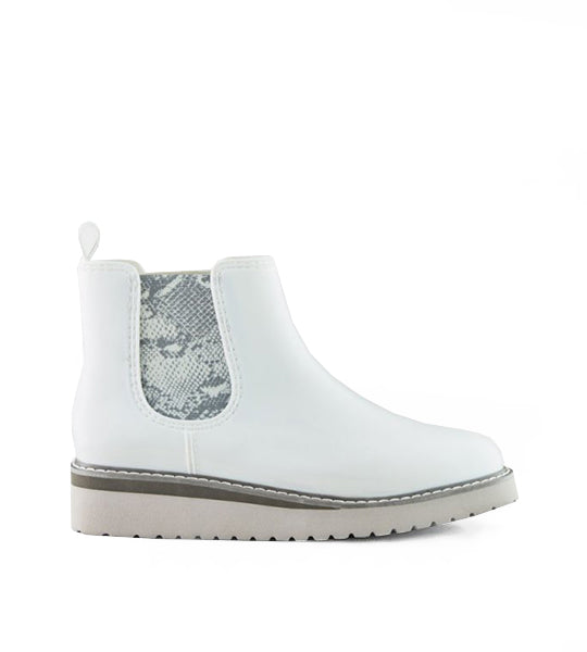 Kensington Chelsea Boot White/Snake