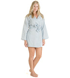 Monogrammed Soft Blue Robe