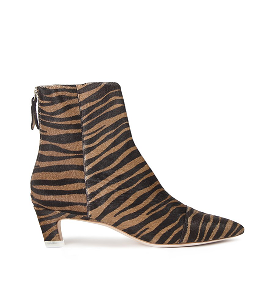 Sonia Zebra Ankle Boot