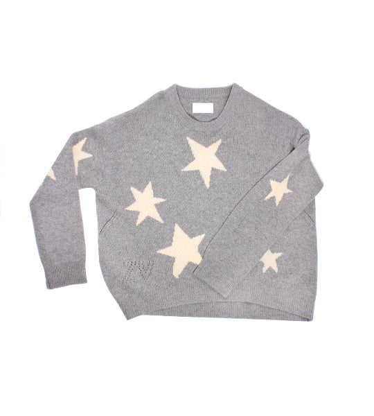 Markus C Star Cashmere Sweater - Grey