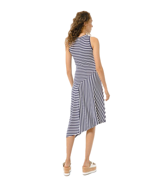 Mix Panel Stripe Dress