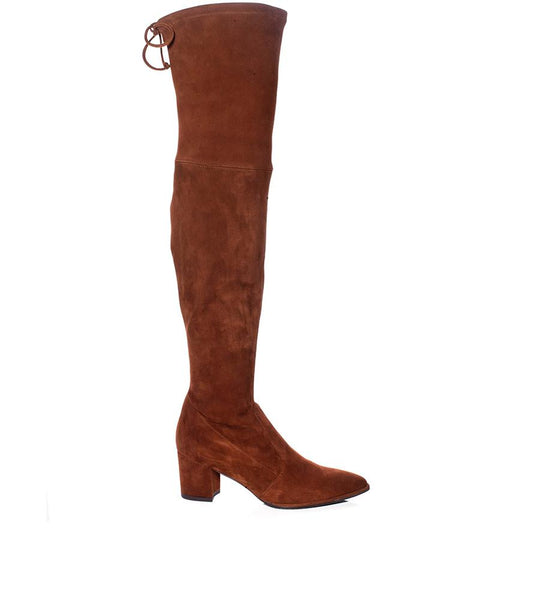 Thighland Suede Boot Brown