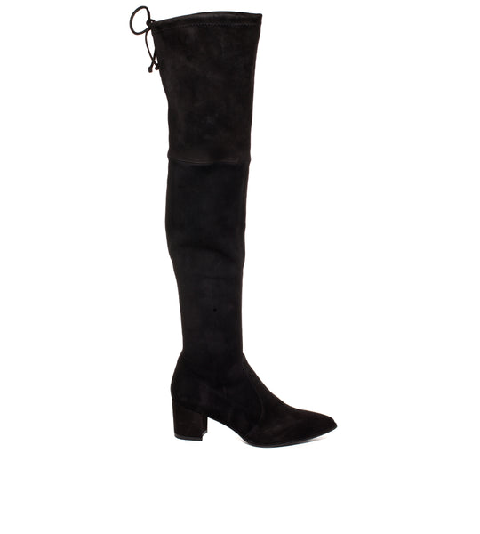 Thighland Suede Black Boot