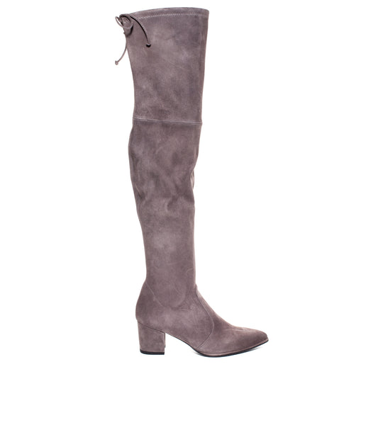 Thighland Suede Grey Boot