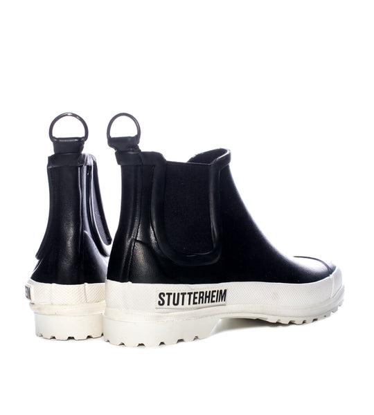 Stutterheim Chelsea Rainwalker Black and White - TheSeptember.com