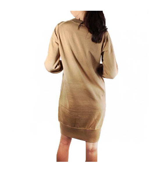 V-Neck Merino Wool Dress