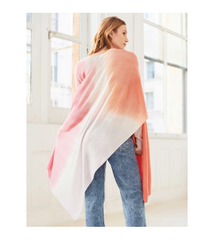 Cashmere Tie Dye Mini Travel Wrap - Pink Combo