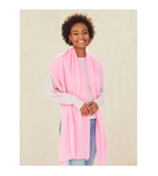 Cashmere Travel Wrap - Pink Buds