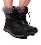 UGG Australia Adirondack Boot III - Black Leather - TheSeptember.com