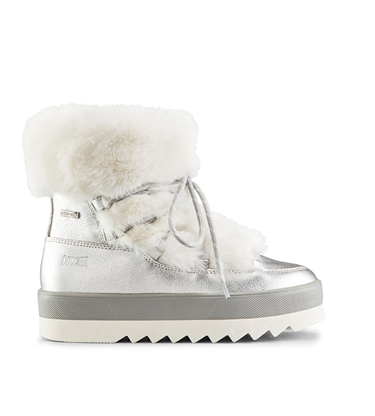 Vanity Metallic Leather Winter Boot - Silver
