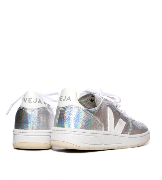 V-10 Sneaker Unicorn Metallic White