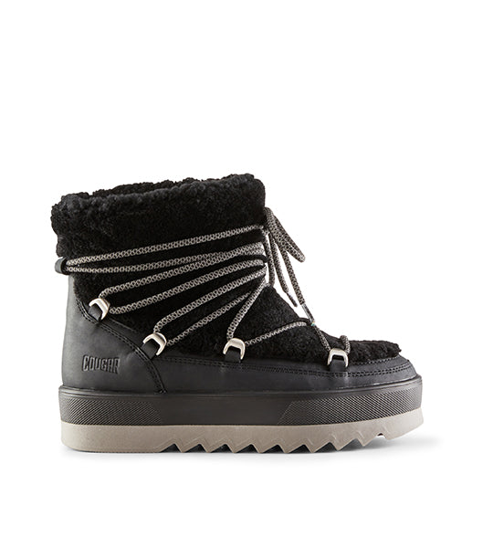 Verity Shearling Winter Boot - Black