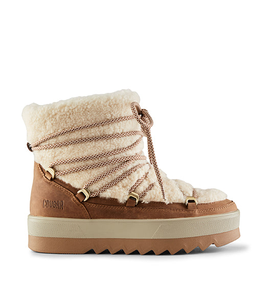 Verity Shearling Boot - Brown