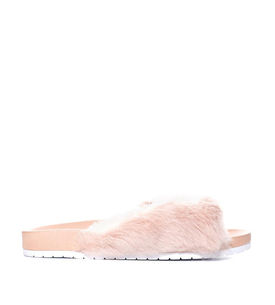 Garrison Pool Slide Fur Pink